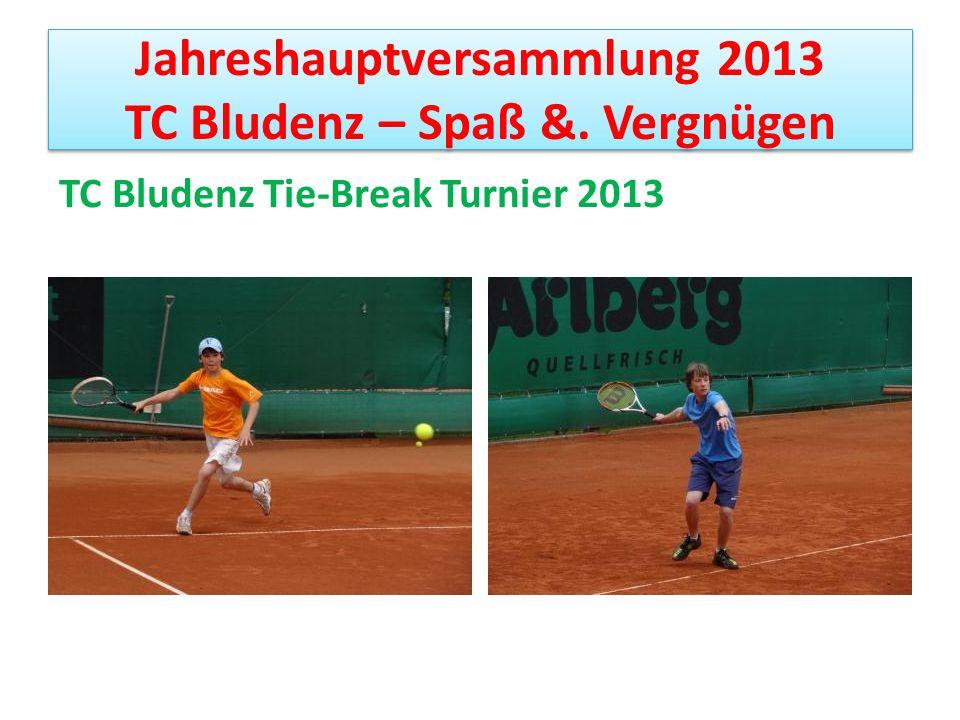 Jahreshauptversammlung 2013 TC Bludenz – Spaß &.Vergnügen Sieger und Vereinsmeister: Herren 35+ 1.