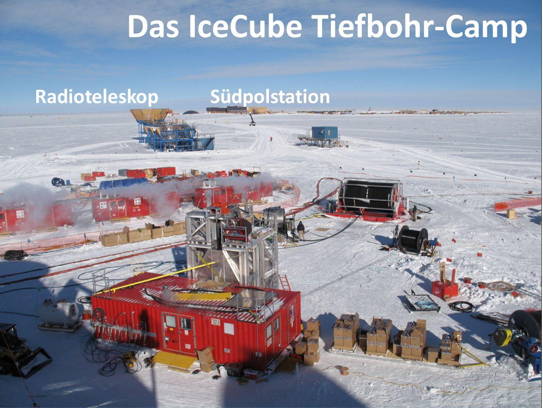 Drill Camp SüdpolstationRadioteleskop Das IceCube Tiefbohr-Camp