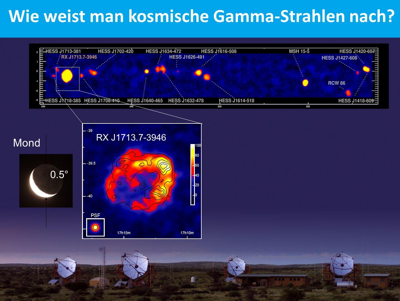 RX J1713.7-3946 Mond 0.5 ° Wie weist man kosmische Gamma-Strahlen nach?