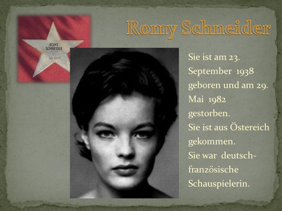 Sie ist am 23. September 1938 geboren und am 29. Mai 1982 gestorben. Sie ist aus Östereich gekommen. Sie war deutsch- französische Schauspielerin.