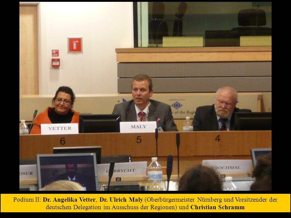 Podium II: Dr. Angelika Vetter, Dr.