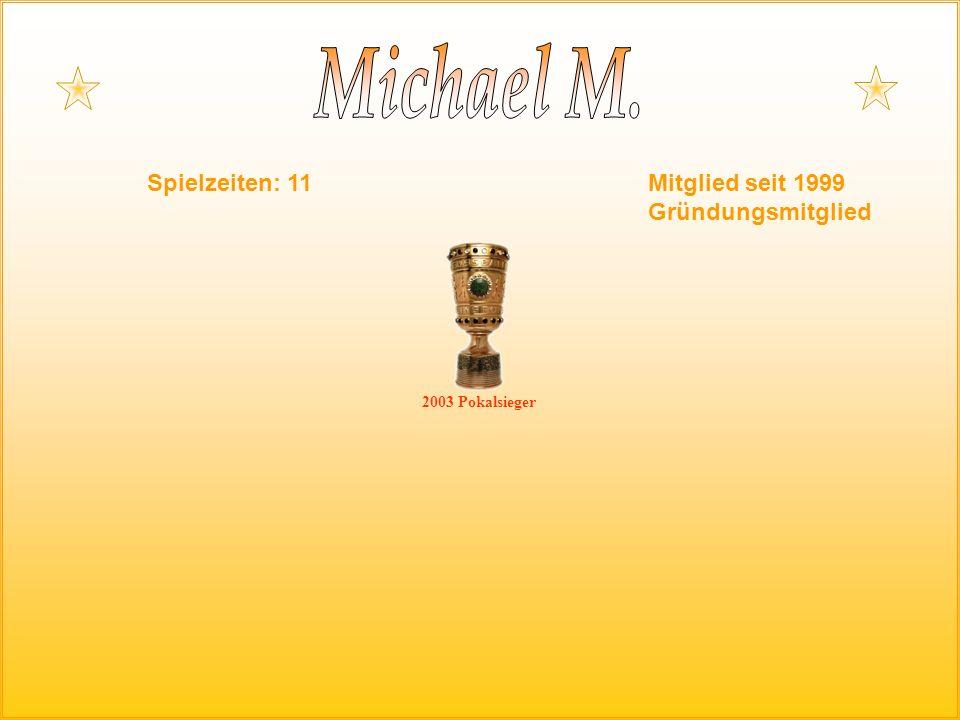 Spielzeiten: 11Mitglied seit 1999 Gründungsmitglied 2003 Pokalsieger