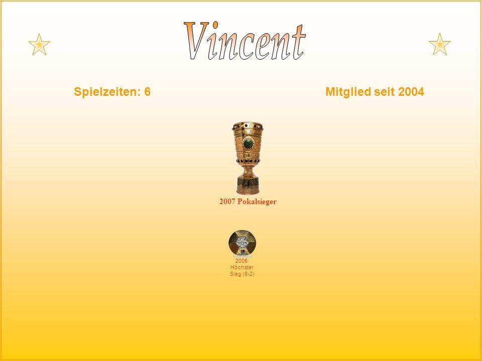 Spielzeiten: 6Mitglied seit 2004 2005 Höchster Sieg (8-2) 2007 Pokalsieger