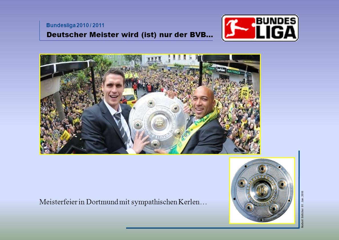 Bundesliga 2010 / 2011 Norbert Böttcher 01.Jan. 2010 Das wars.