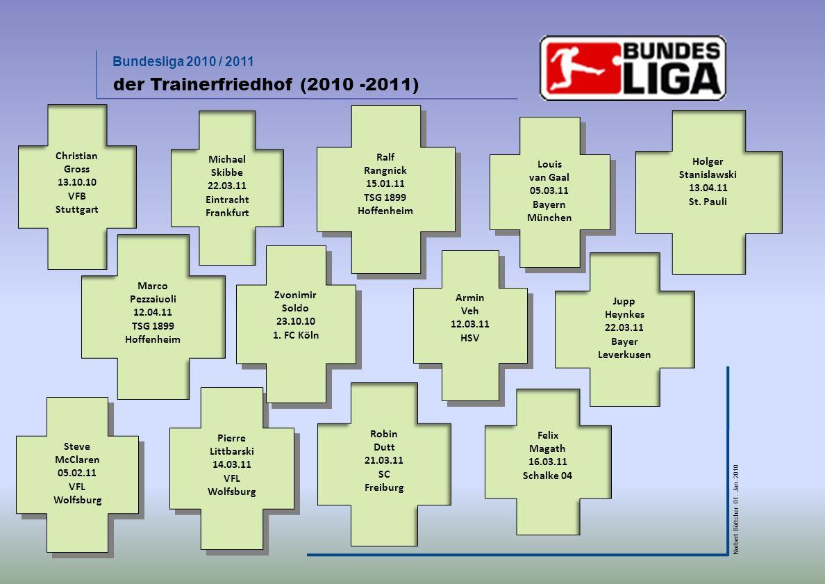 Bundesliga 2010 / 2011 Norbert Böttcher 01. Jan. 2010 Vorjahresvergleich