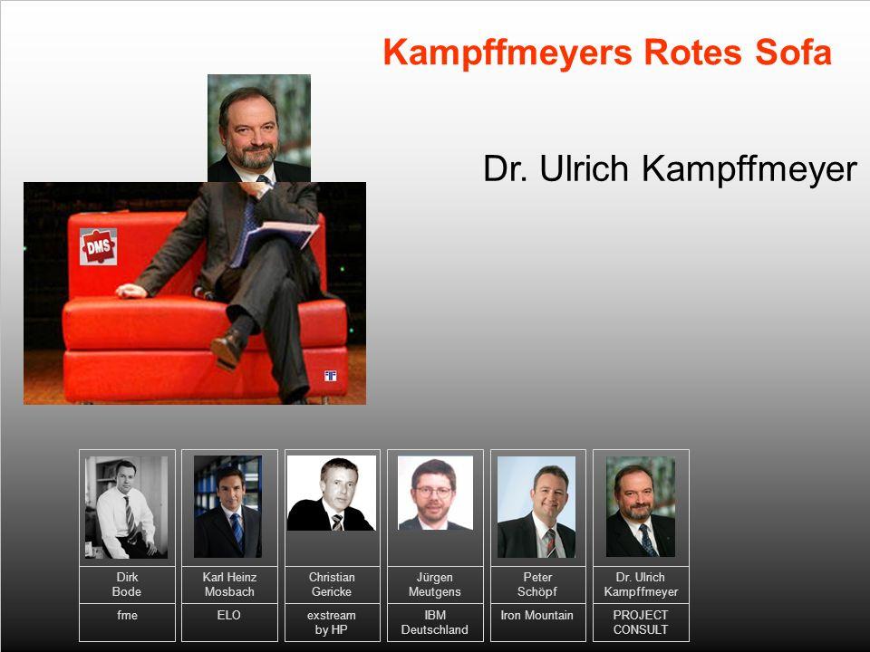 10 Dr. Ulrich Kampffmeyer Kampffmeyers Rotes Sofa Karl Heinz Mosbach ELO Jürgen Meutgens IBM Deutschland Dr. Ulrich Kampffmeyer PROJECT CONSULT Peter
