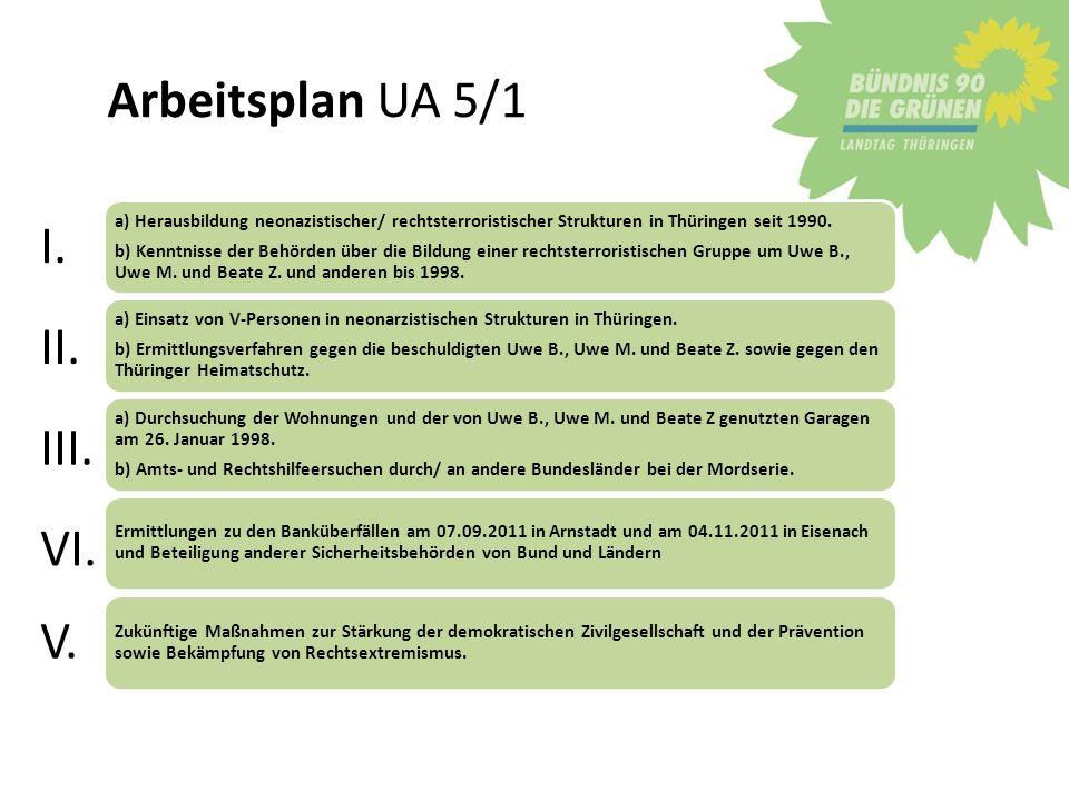 Verjährung Problemdarstellung Thüringen THS 1995 NSU 1998 2003 Sachsen Banküberfälle 1999 2011 Bayern 1.