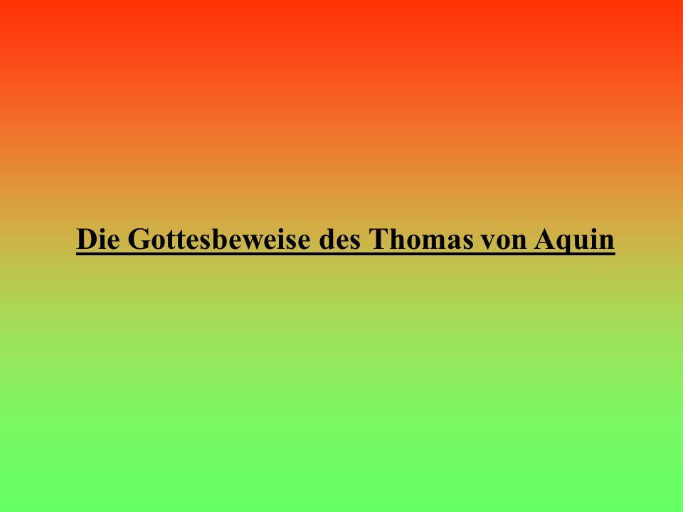 Die Gottesbeweise des Thomas von Aquin