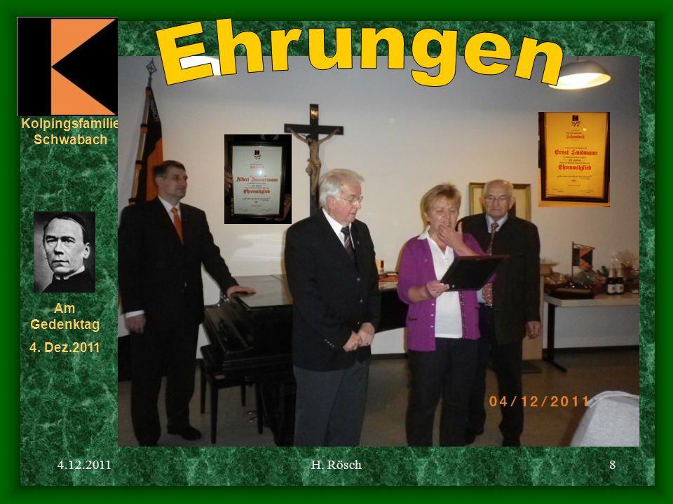 Kolpingsfamilie Schwabach Am Gedenktag 4. Dez.2011 4.12.2011H. Rösch19