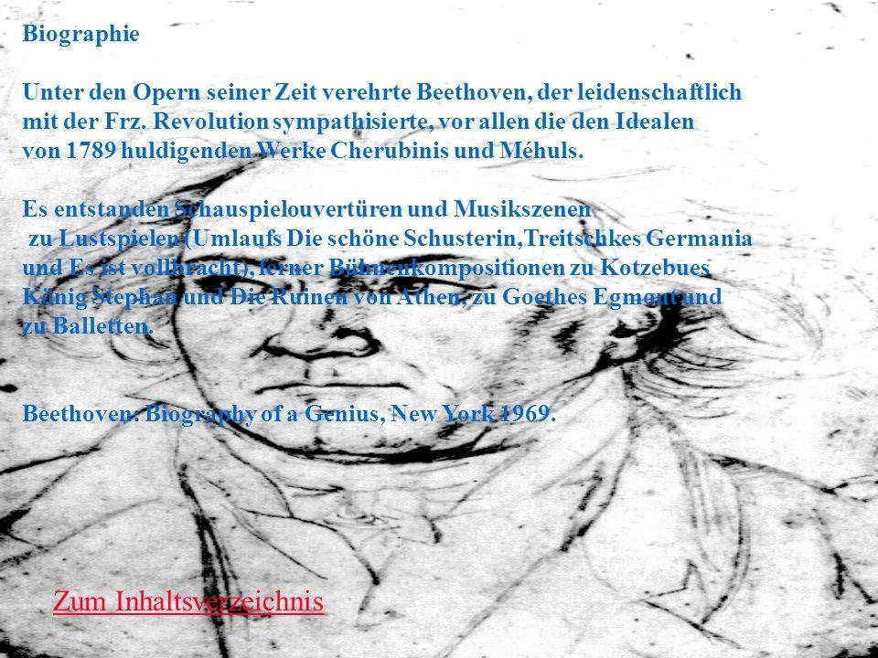 Biographie Unter den Opern seiner Zeit verehrte Beethoven, der leidenschaftlich mit der Frz. Revolution sympathisierte, vor allen die den Idealen von