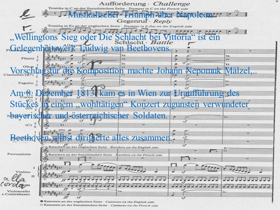Beethoven, der Geldprobleme hatte, konnte seine eigene Kasse,durch das Folgekonzert erheblich aufbessern und wurde weit über seine bisherigen Kreise hinaus bekannt.