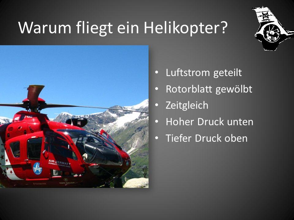 Warum fliegt ein Helikopter ? Drehflügler