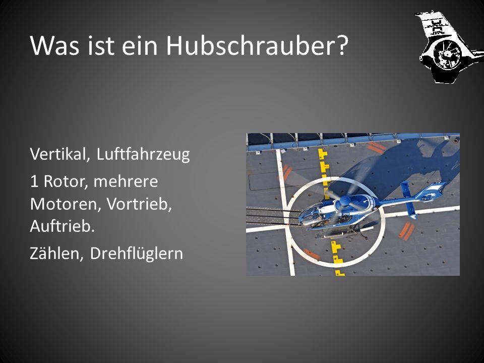 Inhaltsverzeichnis Was ist ein Helikopter? Warum den Namen Helikopter ? Warum kann ein Helikopter fliegen? Eurocopter 135 T2 Heckrotor und Fenestron R