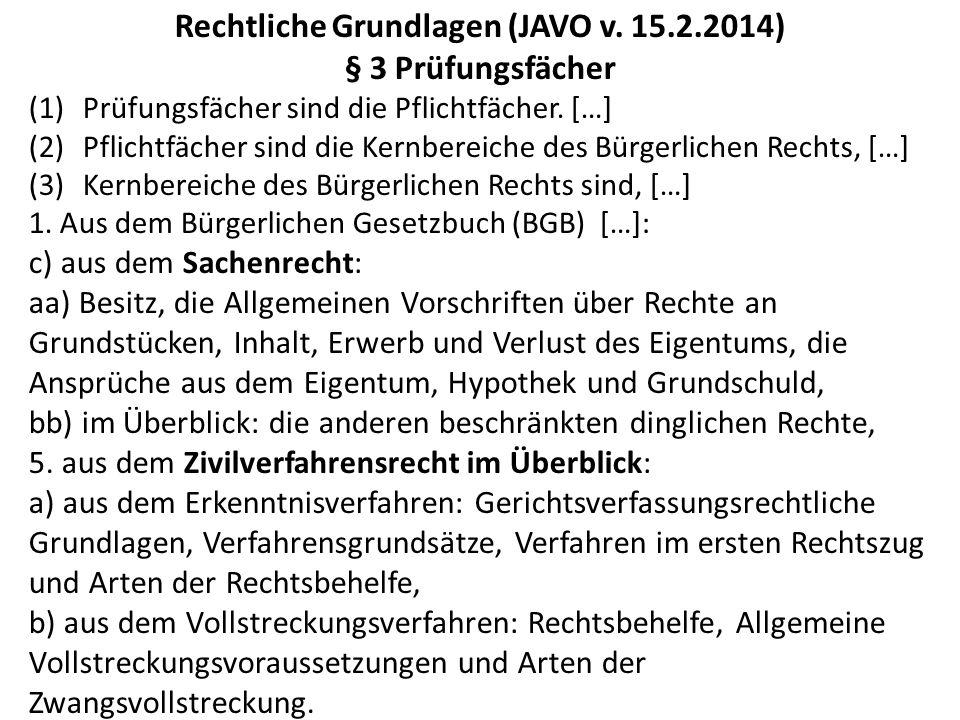 Rechtliche Grundlagen (JAVO v.