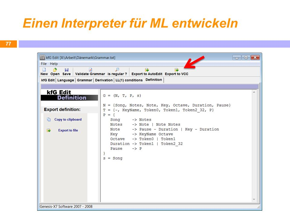 Einen Interpreter für ML entwickeln 77