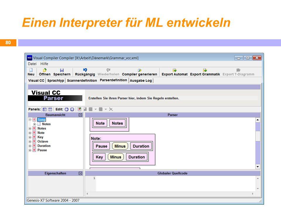 Einen Interpreter für ML entwickeln 80