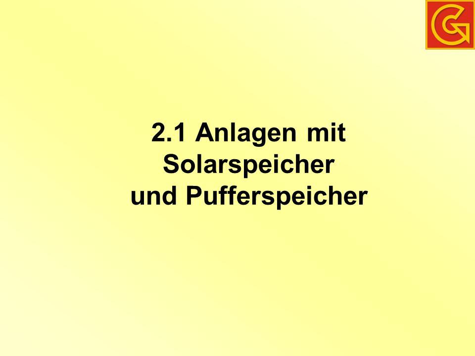 2.1 Anlagen mit Solarspeicher und Pufferspeicher