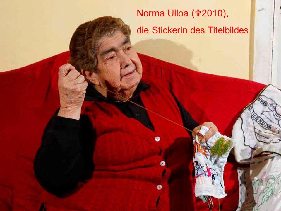 Norma Ulloa ( 2010), die Stickerin des Titelbildes