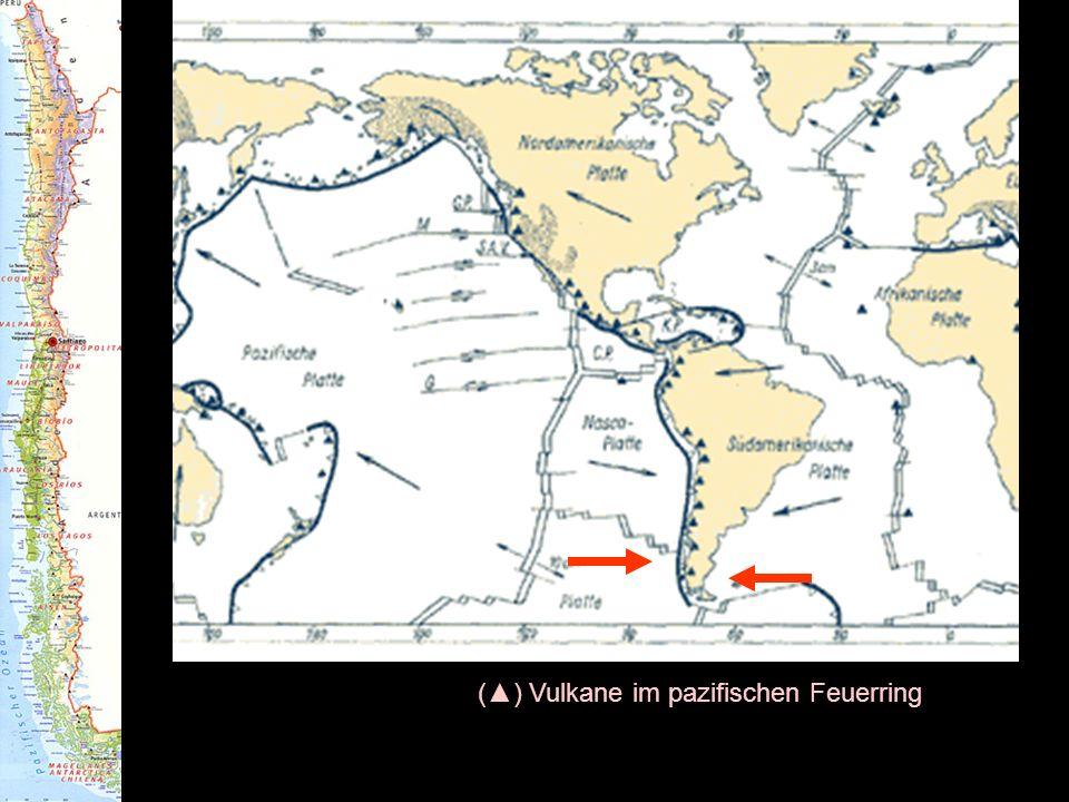 () Vulkane im pazifischen Feuerring