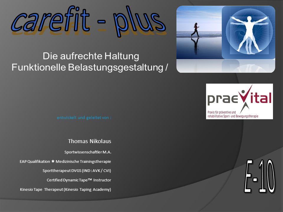 entwickelt und geleitet von : Thomas Nikolaus Sportwissenschaftler M.A. EAP Qualifikation Medizinische Trainingstherapie Sporttherapeut DVGS (IND : AV