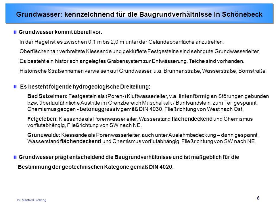 6 Dr.Manfred Sichting Grundwasser kommt überall vor.