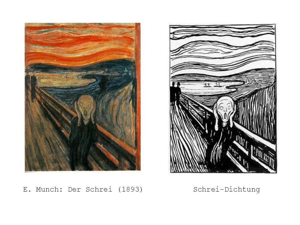 E. Munch: Der Schrei (1893)Schrei-Dichtung