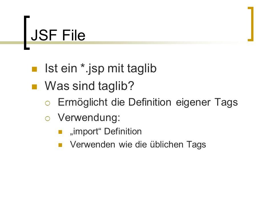 JSF File Ist ein *.jsp mit taglib Was sind taglib.