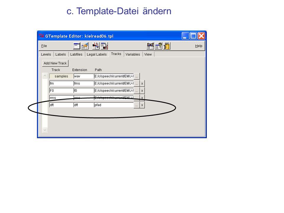 c. Template-Datei ändern