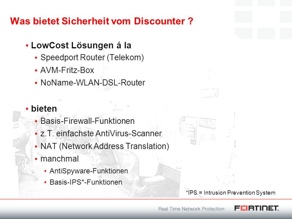 Was bietet Sicherheit vom Discounter ? LowCost Lösungen á la Speedport Router (Telekom) AVM-Fritz-Box NoName-WLAN-DSL-Router bieten Basis-Firewall-Fun