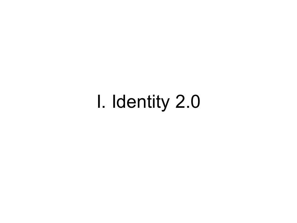 I. Identity 2.0