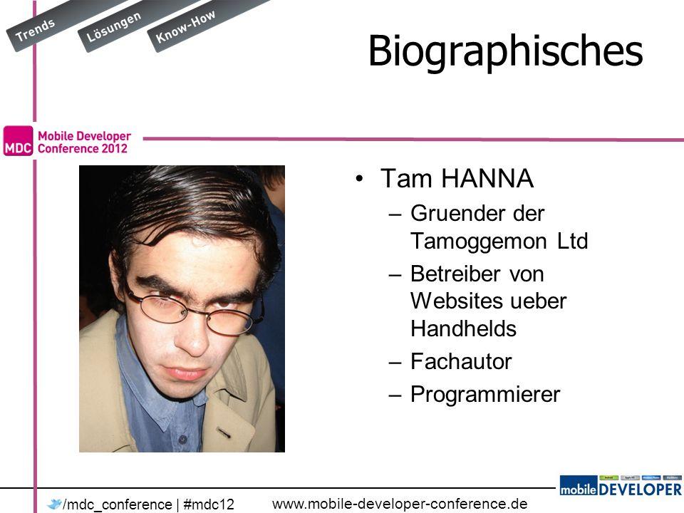 www.mobile-developer-conference.de /mdc_conference | #mdc12 Element hinzufuegen public void AddSth(TamsClass _victim) { using (var db = new TamsDataContext(myConnStr)) { db.TamsClasses.InsertOnSubmit(_victim); db.SubmitChanges(); }