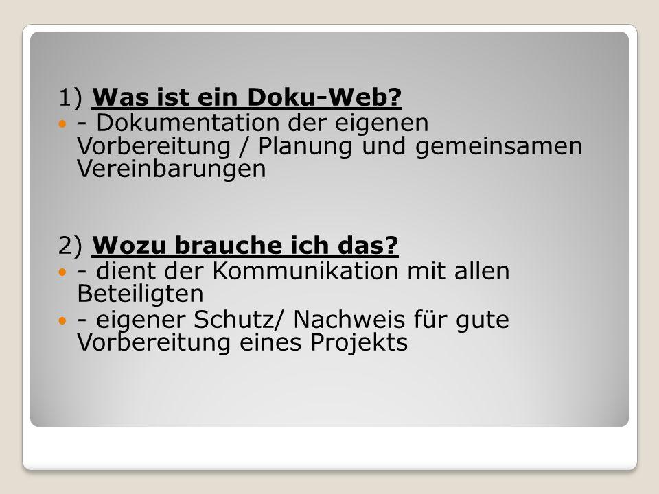 1) Was ist ein Doku-Web.
