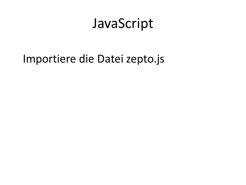 JavaScript Importiere die Datei zepto.js