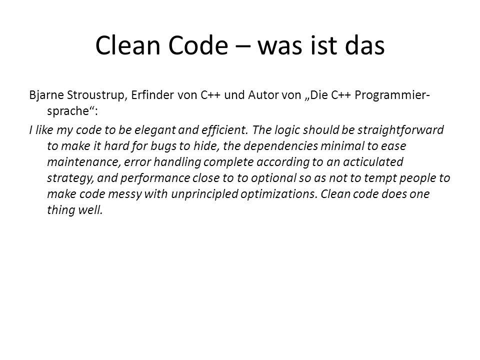 Bjarne Stroustrup, Erfinder von C++ und Autor von Die C++ Programmier- sprache: I like my code to be elegant and efficient. The logic should be straig