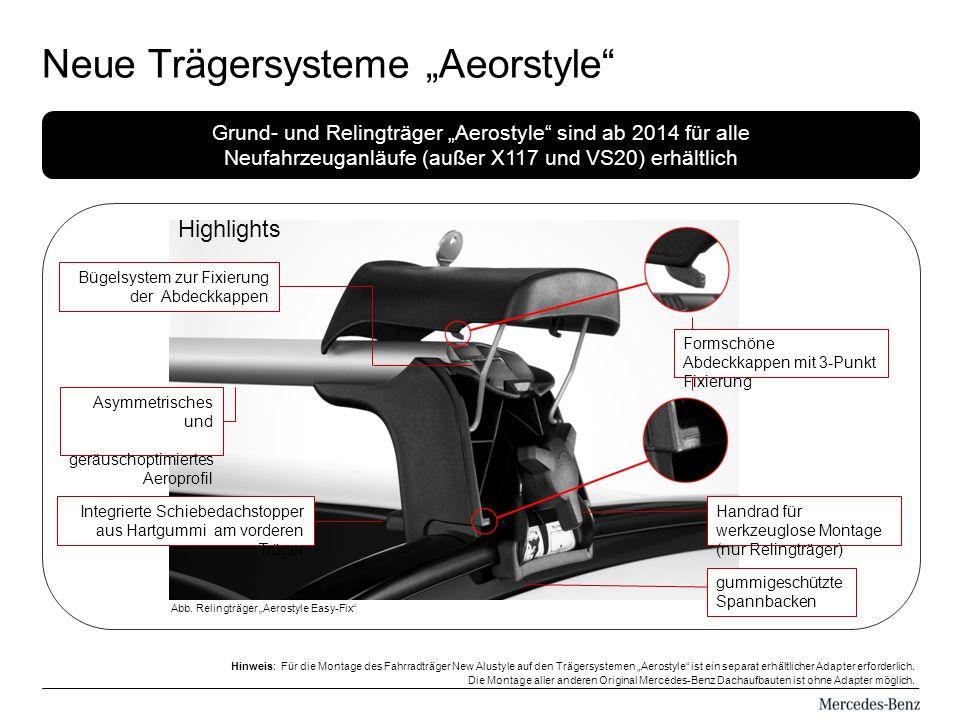 Neue Trägersysteme Aeorstyle Abb.
