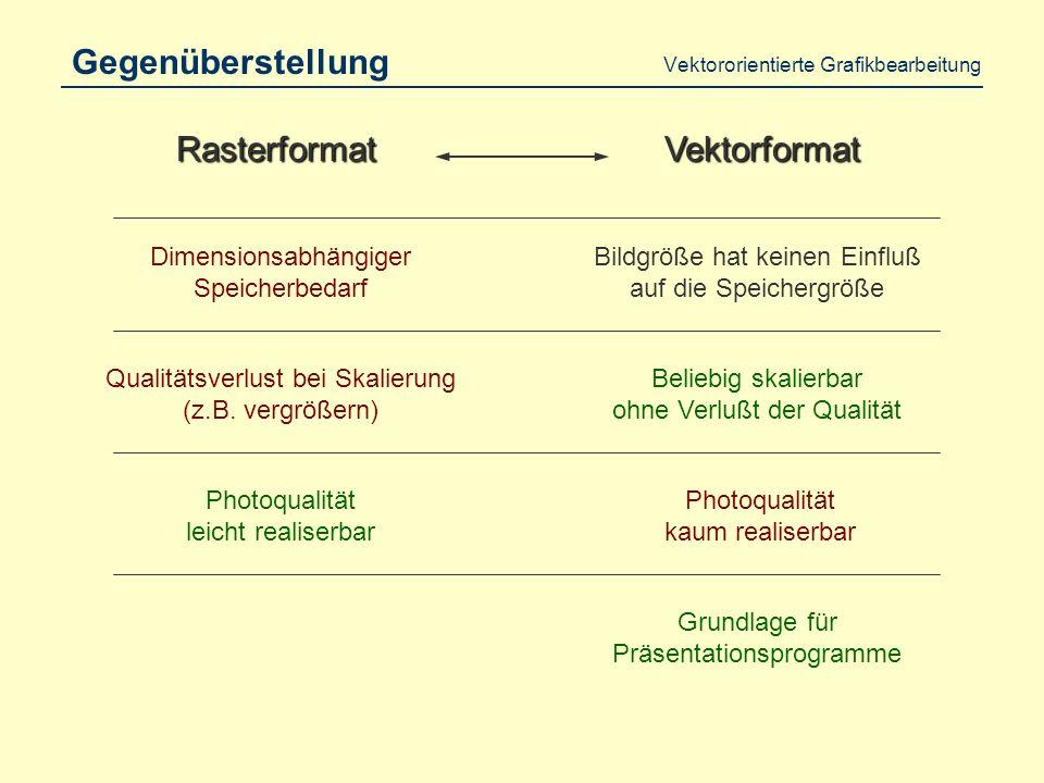 Vektororientierte Grafikbearbeitung Vektorisierung PixelgrafikVektorgrafik
