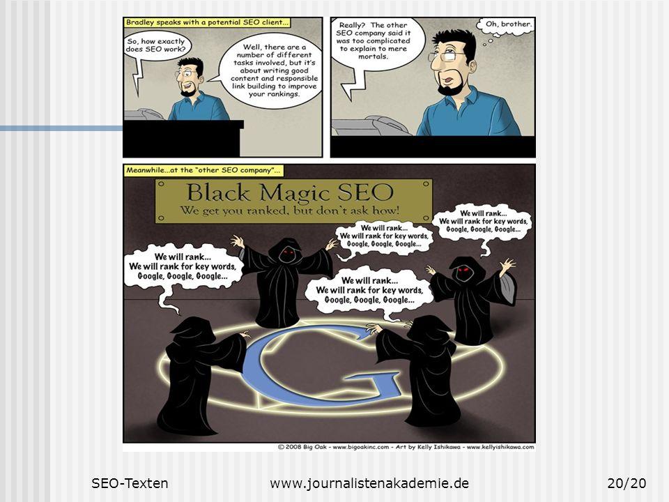 SEO-Textenwww.journalistenakademie.de20/20