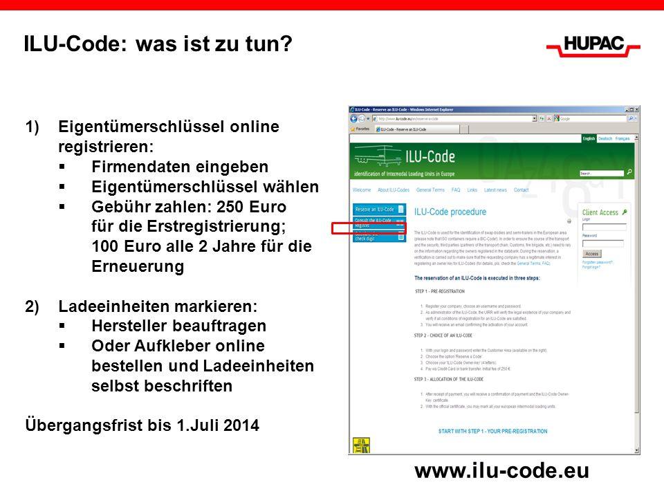 1)Eigentümerschlüssel online registrieren: Firmendaten eingeben Eigentümerschlüssel wählen Gebühr zahlen: 250 Euro für die Erstregistrierung; 100 Euro