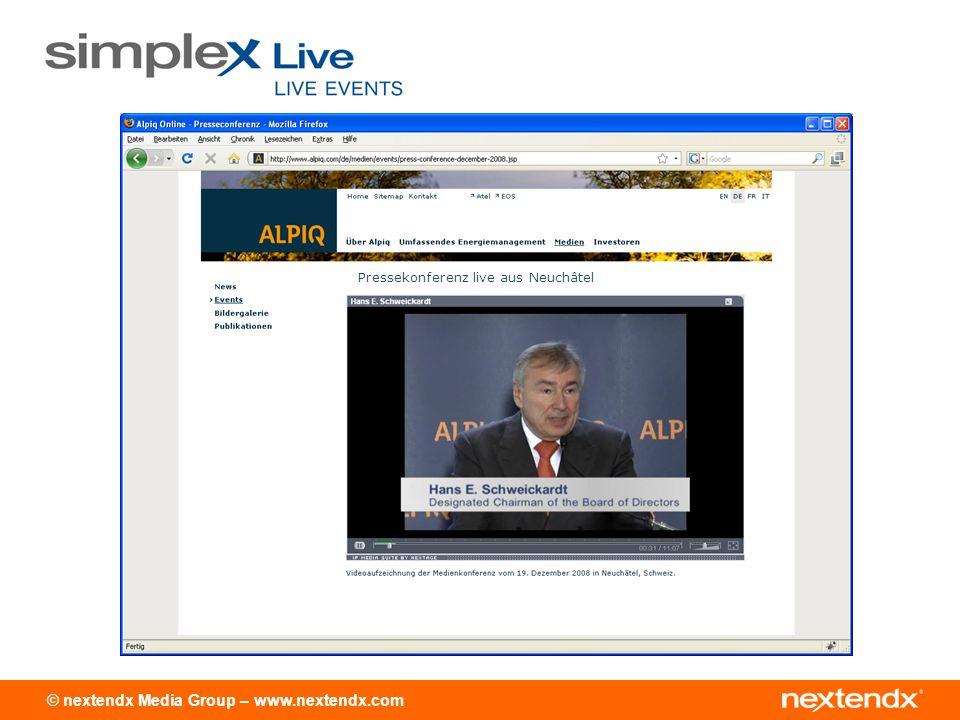 Pressekonferenz live aus Neuchâtel