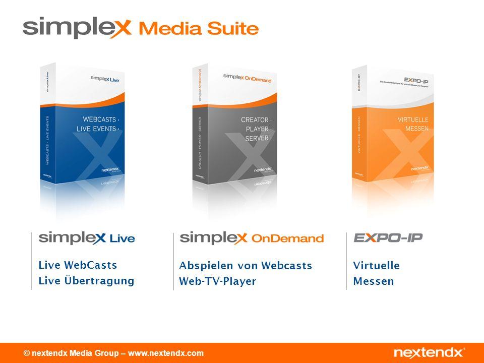 © nextendx Media Group – www.nextendx.com Ganzheitliche Lösung Industriekompatibel, PDF, PPT, MP3, etc.