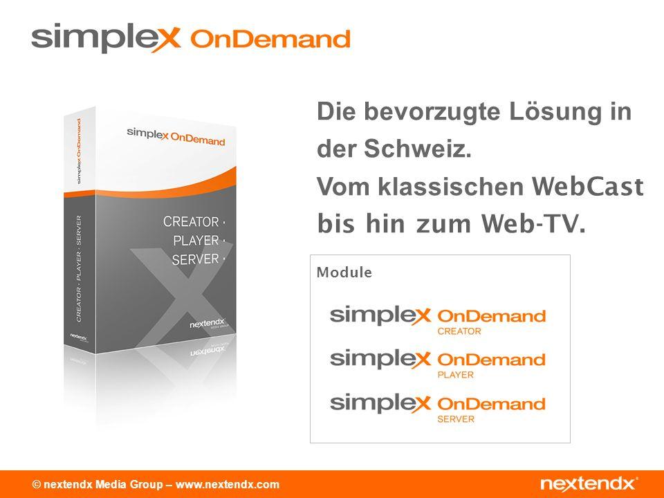 © nextendx Media Group – www.nextendx.com Einfachste Bedienung Verwendung beliebiger Formate Kreation mit click & drop PPT / PDF / MP3 etc.