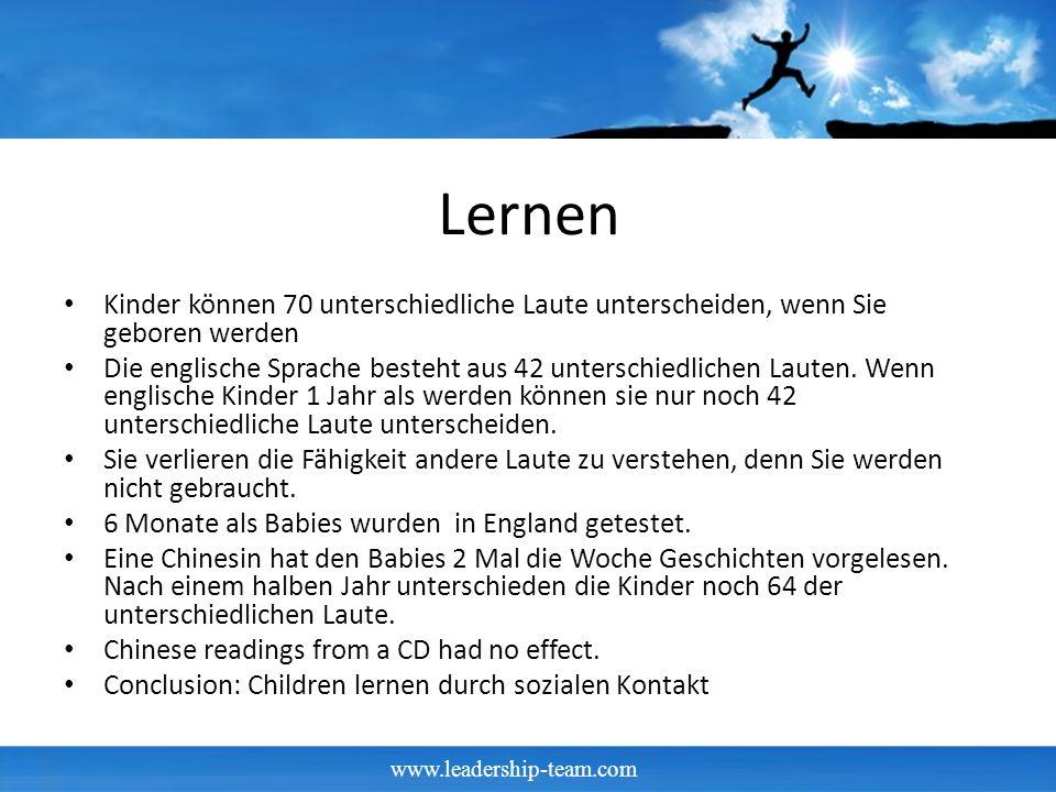 Lernen Kinder können 70 unterschiedliche Laute unterscheiden, wenn Sie geboren werden Die englische Sprache besteht aus 42 unterschiedlichen Lauten.