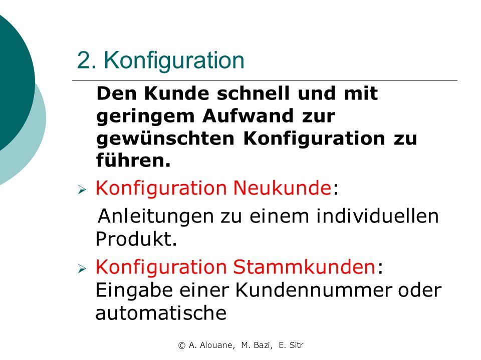 2. Konfiguration Den Kunde schnell und mit geringem Aufwand zur gewünschten Konfiguration zu führen. Konfiguration Neukunde: Anleitungen zu einem indi