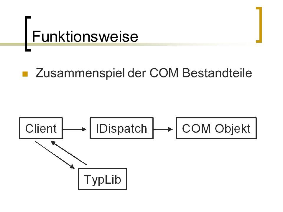 Funktionsweise Zusammenspiel der COM Bestandteile