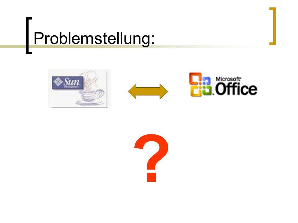 Problemstellung: ?