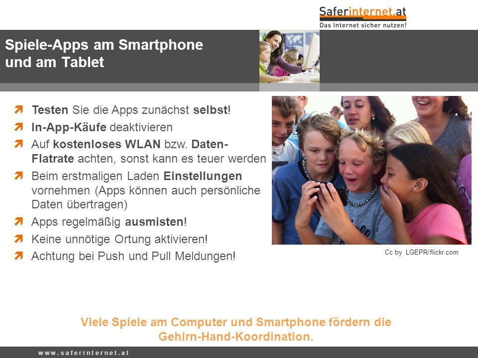 Spiele-Apps am Smartphone und am Tablet Testen Sie die Apps zunächst selbst.