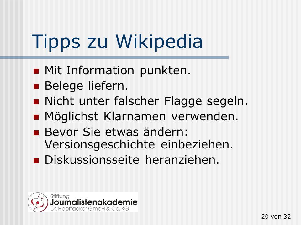 19 von 32 Was Wikipedia nicht mag Siemens verschönerte den Eintrag über Klaus Kleinfeld.