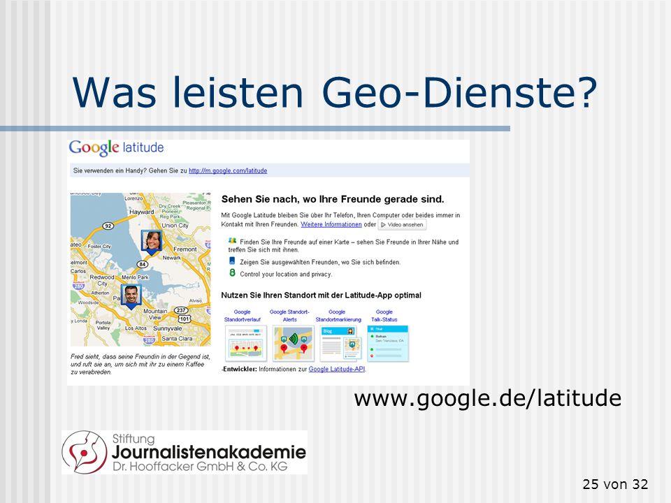24 von 32 Geo-Tagging zum Auffinden maps.google.de