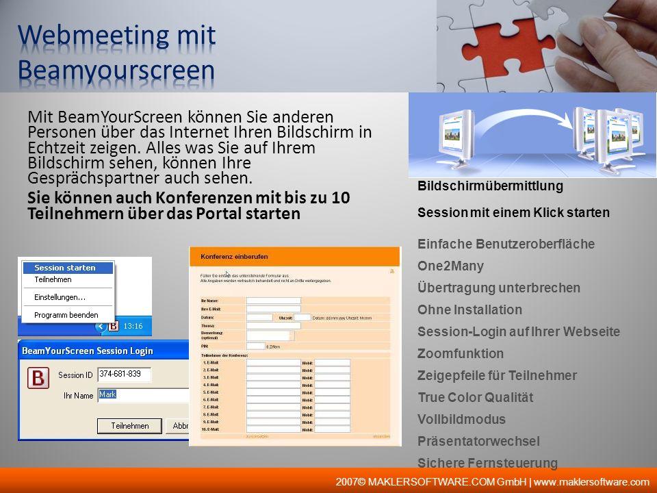 Bildschirmübermittlung Session mit einem Klick starten Einfache Benutzeroberfläche One2Many Übertragung unterbrechen Ohne Installation Session-Login a