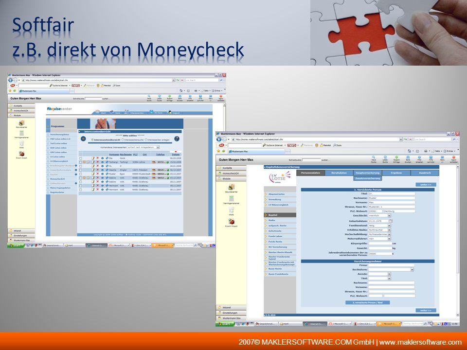 Ein EDV-Programm zum Vergleich von allen KFZ-Versicherungen mit 99% Marktabdeckung.